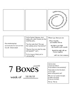 7 Boxes (of Words) Volume 1