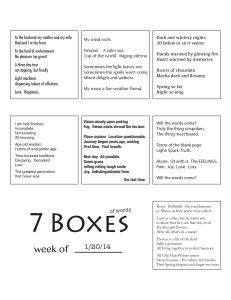 7 Boxes (of Words) vol. 6