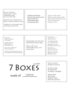 7 Boxes (of Words) vol. 7