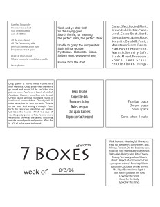 7 Boxes (of Words) vol. 8
