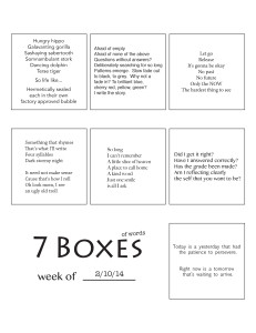7 Boxes (of Words) vol. 9