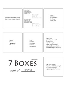 7 Boxes (of Words) vol. 14
