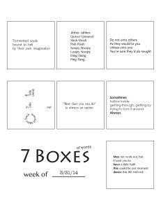 7 Boxes (of Words) vol. 16