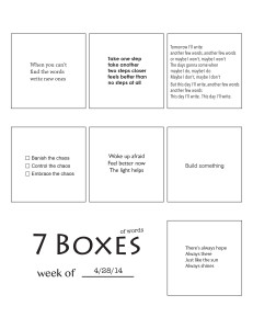 7 Boxes (of Words) vol. 20