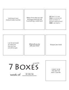 7 Boxes (of Words) vol. 22