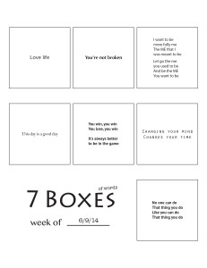 7 Boxes (of Words) vol. 26