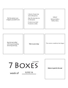 7 Boxes (of Words) vol. 28