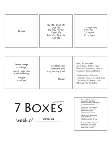7 Boxes (of Words) vol. 29