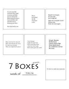 7 Boxes (of Words) vol. 32