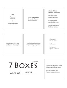 7 Boxes (of Words) vol. 34