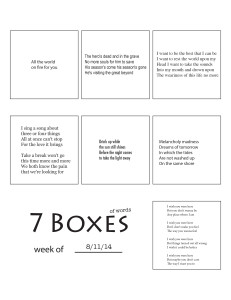 7 Boxes (of Words) vol. 35