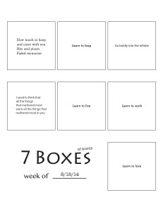 7 Boxes (of Words) vol. 36