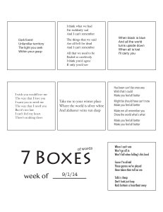 7 Boxes (of Words) vol. 38