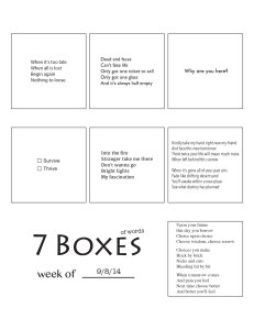 7 Boxes (of Words) vol. 39