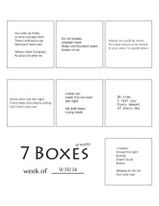 7 Boxes (of Words) vol. 40