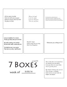 7 Boxes (of Words) vol. 41
