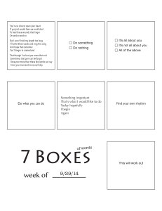 7 Boxes (of Words) vol. 42