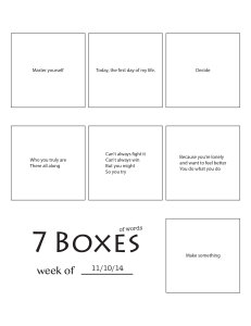 7 Boxes (of Words) vol. 44