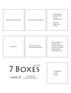 7 Boxes (of Words) vol. 45