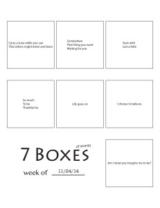 7 Boxes (of Words) vol. 46