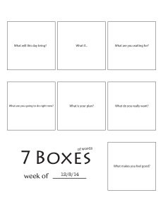7 Boxes (of Words) vol. 47