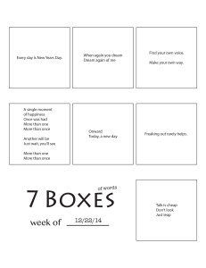 7 Boxes (of Words) vol. 49